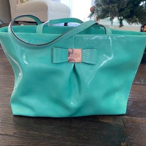 Kate spade bow tote teal